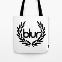 blur Tote Bags featuring blur by s1jeong