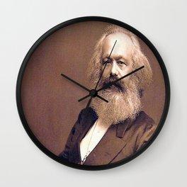 Portrait of Karl Marx by John Jabez Edwin Mayal Wall Clock