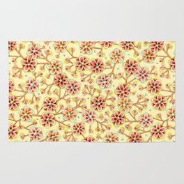 Candy Apple Blossom Yellow Rug