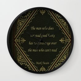 Book Quote 9 Wall Clock
