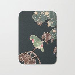 Parakeet by Ito Jakuchu, 1900 Bath Mat