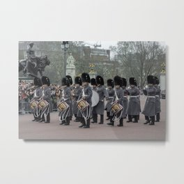 Welsh Guard Marching band During the Changing of the Guard London England Metal Print
