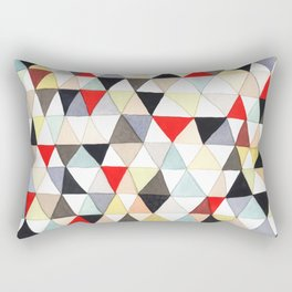 Geometric Pattern Watercolor & Pencil Robayre Rectangular Pillow