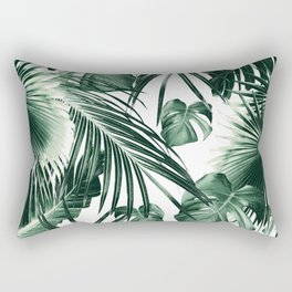 Tropical Jungle Leaves Dream #7 #tropical #decor #art #society6 Rectangular Pillow