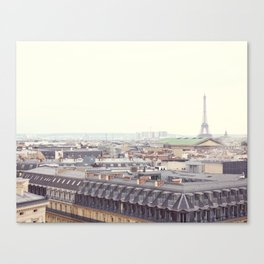 Paris Roofs and Eiffel Tower Canvas Print