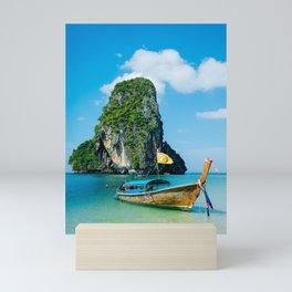 Longtail Thai's boat Mini Art Print