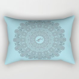 Tribal Hammerhead Shark Mandala Rectangular Pillow