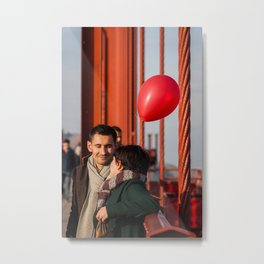 Balloon Love Metal Print