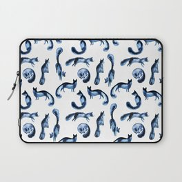 A pack of silver foxes. Laptop Sleeve