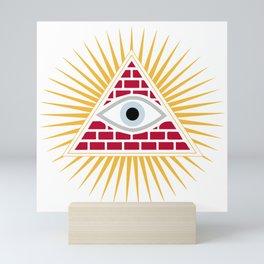 Freemasonic eye Mini Art Print