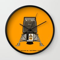 pixies Wall Clocks featuring 7 inch series: Pixies - Space (I believe in) / Motorway to Roswell by Gimetzco's Damaged Goods