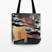 finland Tote Bags featuring Pegasos Over Finland by Samu Salovaara