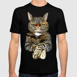 cat like a boss vector art T-shirt