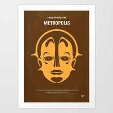 No052 My Metropolis minimal movie poster Art Print