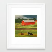 farm Framed Art Prints featuring Farm by ArtSchool