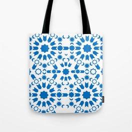 Blue Arabesque Tote Bag