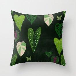 I heart houseplants Throw Pillow