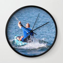 Kayaker Man Paddle Kayak. Kayaking, Paddling, Canoeing. Wall Clock