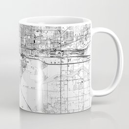Vintage Map of Tampa Florida (1944) BW Coffee Mug