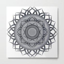 Mandala  denim photocollage Metal Print