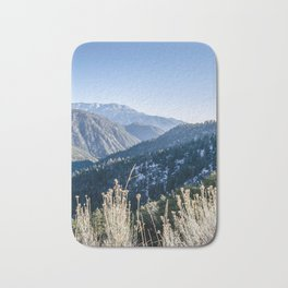 Mountains With Some Snow Bath Mat