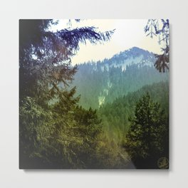 Bluegreen Mountain, Oregon Metal Print