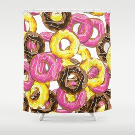 Delicious donut pattern Shower Curtain
