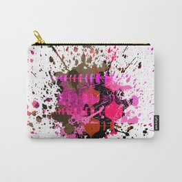 Electro Pink Black Brown Splat Carry-All Pouch