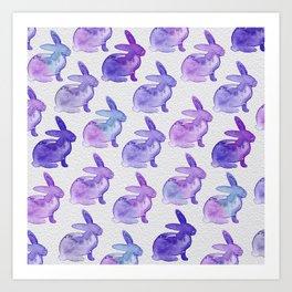 Watercolor Bunnies 1K by Kathy Morton Stanion Art Print