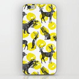 half animals pattern iPhone Skin