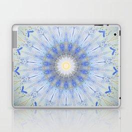 Crystal Blue Decorative Mandala Laptop & iPad Skin