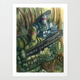 Jungle Assault Art Print