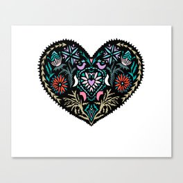 Heart T Shirt Canvas Print