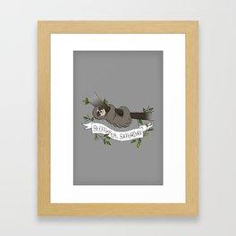 Slothful Saturday Framed Art Print