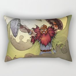 Viking Warrior Rectangular Pillow