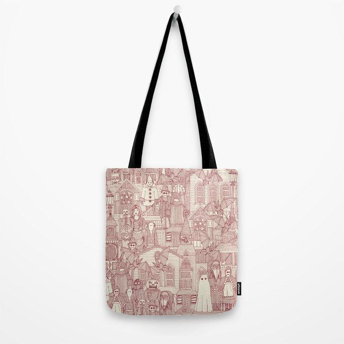 vintage halloween claret ivory Tote Bag