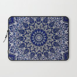 N33 - Blue Andalusian Bohemian Moroccan Mandala Artwork. Laptop Sleeve