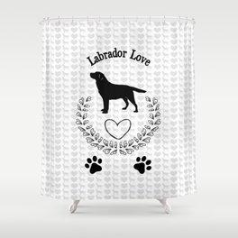 Labrador Love Shower Curtain