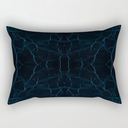 Dark blue leather texture abstract Rectangular Pillow