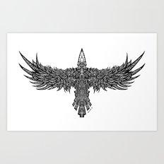 Ghost Raven Art Print