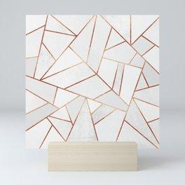 White Stone & Copper Lines Mini Art Print