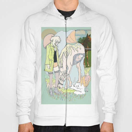 Us and Them: candy (horses) Hoody
