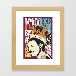 Freddie Pop-Art Quote Framed Art Print