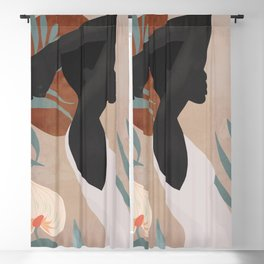 Tropical Girl 4 Blackout Curtain