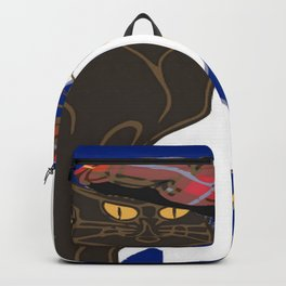 Le Chat Burns Nuit Haggis Dram Scottish Saltire Backpack