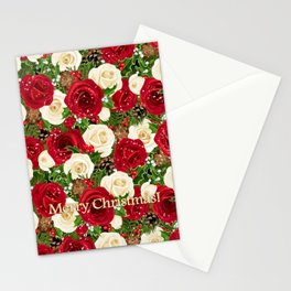 Christmas roses garden Stationery Cards