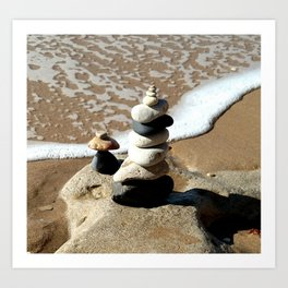Balancing Rocks, Luz-Lagos, Portugal Art Print