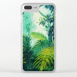 Rainforest Lights and Shadows Clear iPhone Case