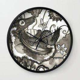 Dragon´s Visit Wall Clock