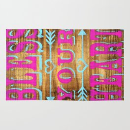 Bless your Heart - Wood Sign - Southern Saying Rug
